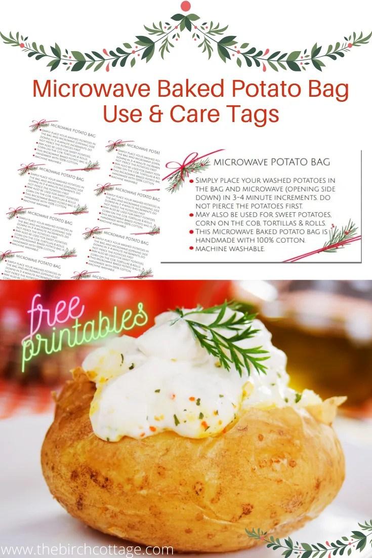 Microwave Potato Bag Pattern : microwave, potato, pattern, Microwave, Baked, Potato, Birch, Cottage