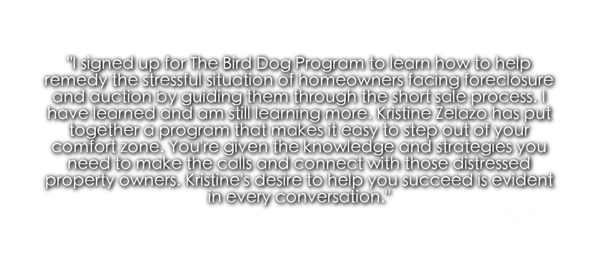 The Bird Dog Program with Kristine Zelazo - A Real Estate Investing Joint Venture Program
