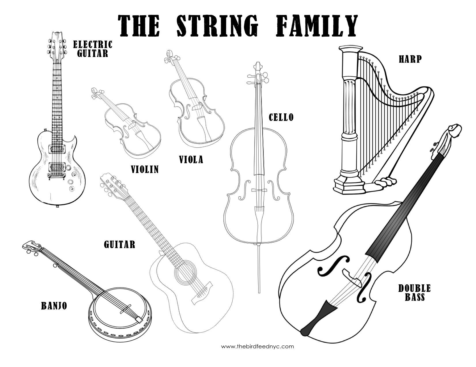 New 534 String Family Instruments Worksheet