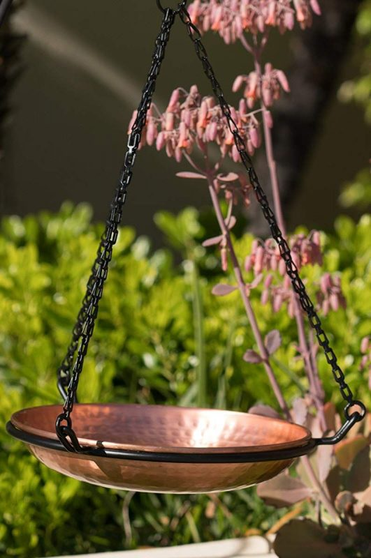 Monarch Abode Hammered Copper Bird Bath