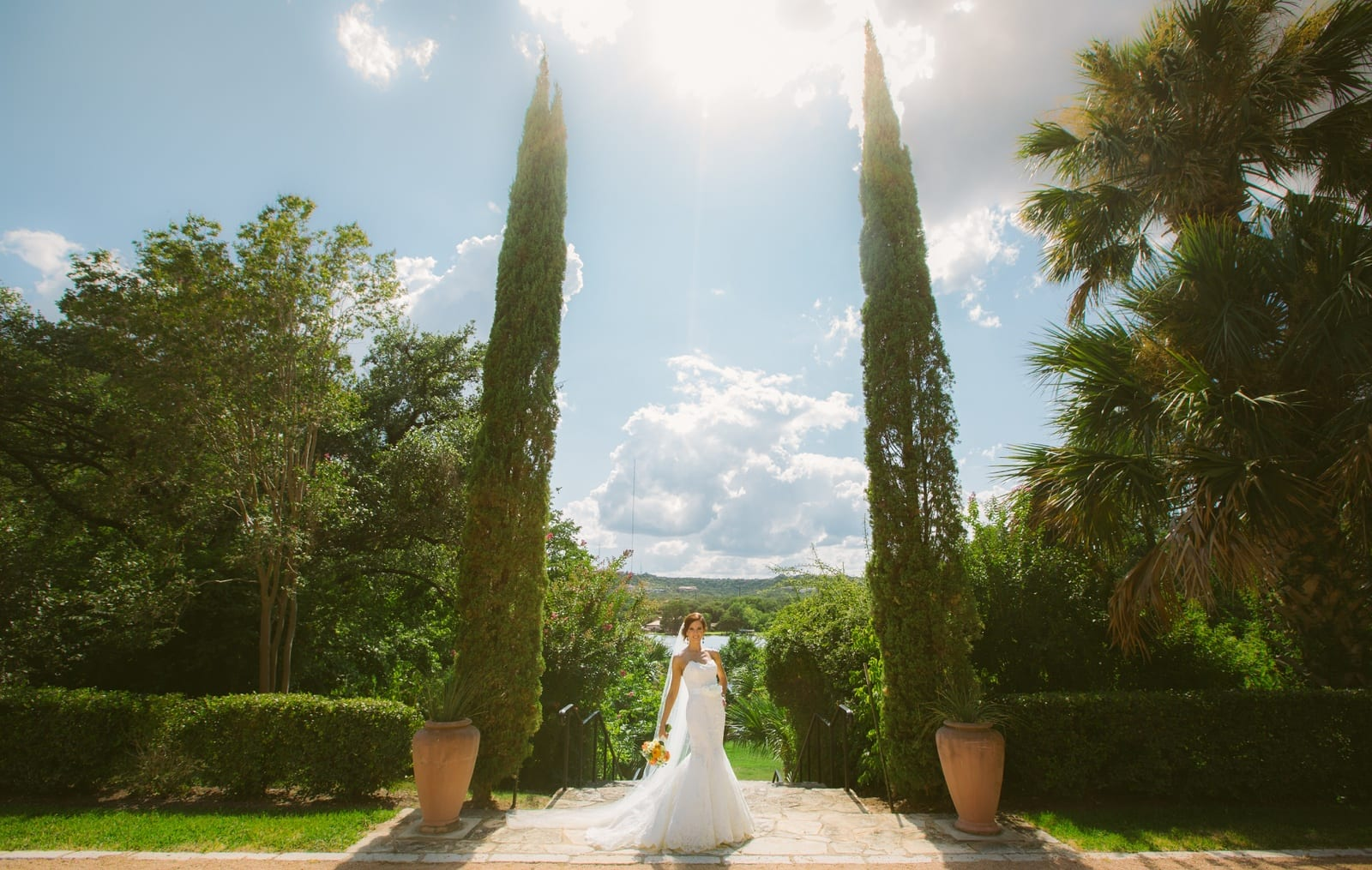 Laguna Gloria Bridal Portraits  Kelly  The Bird  The Bear  Austin  Destination Wedding