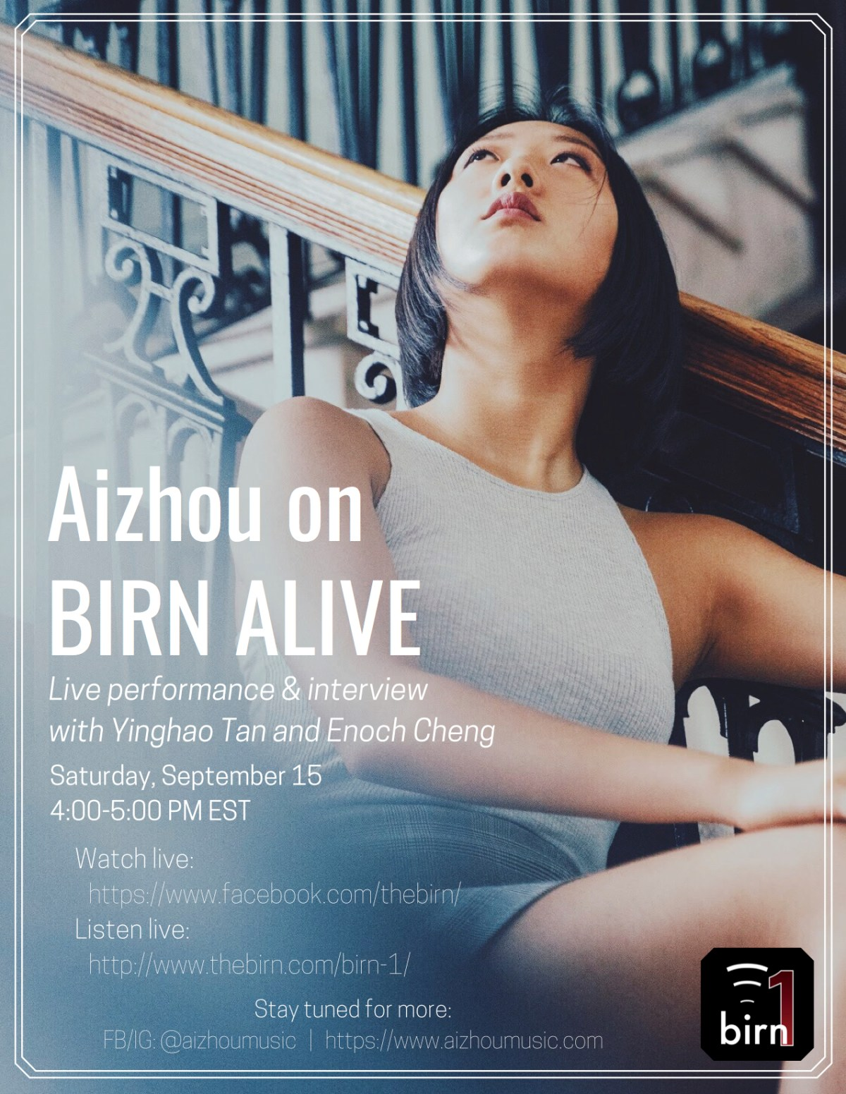 Aizhou to Appear on BIRN Alive
