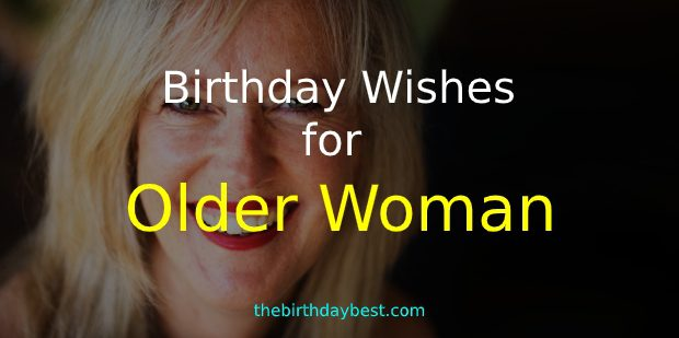 Birthday Wishes for Older Woman