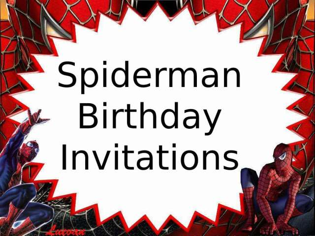 30 Best Spiderman Birthday Invitations Free With Photo Of 2020