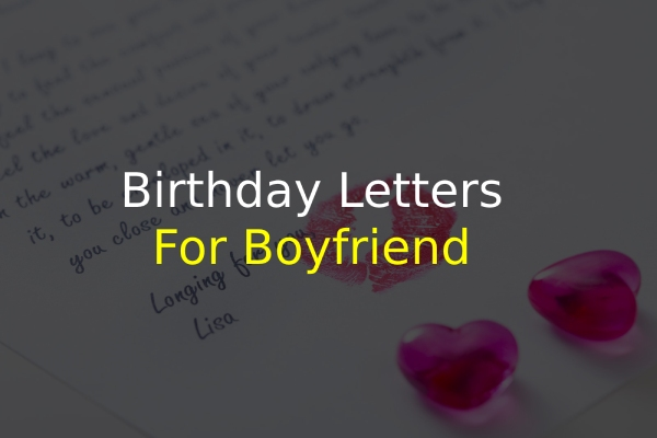 Birthday Letters for Boyfriend