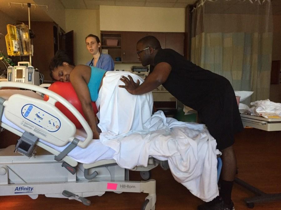 Hospital Birth With Nitrous Oxide & Birth Tub