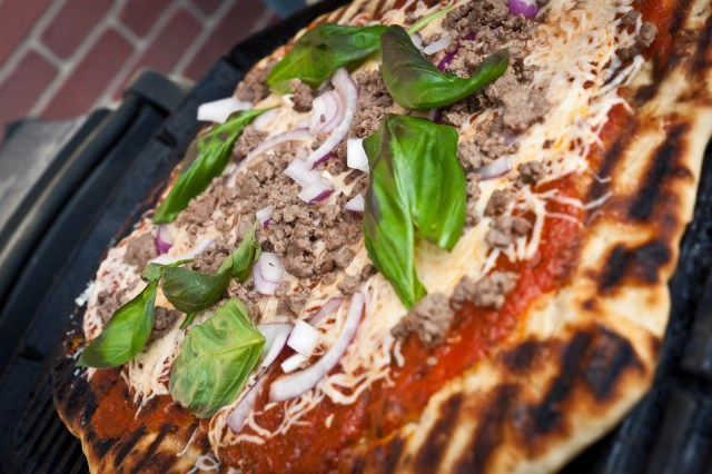 Grilled Bison Pizza
