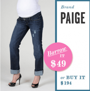 Borrow For Your Bump Maternity Jeans