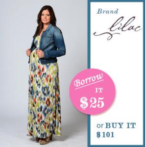 Borrow for Your Bump Maternity Dress