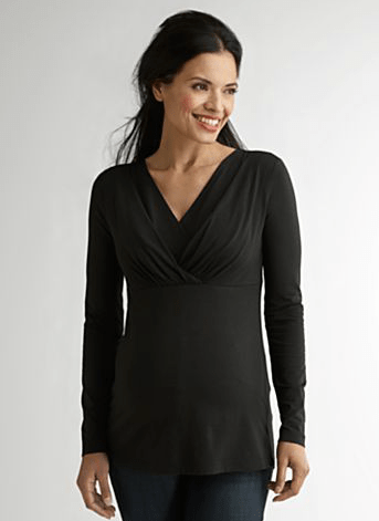 Shade Clothing Maternity Double V-Neck Nursing Top