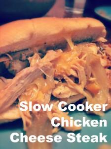 Slow Cooker Chicken Cheese Steak