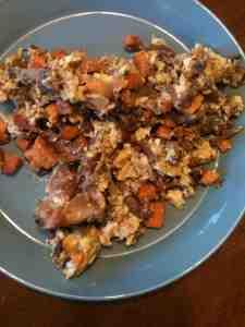 Paleo Breakfast of Eggs and Sweet Potatoes