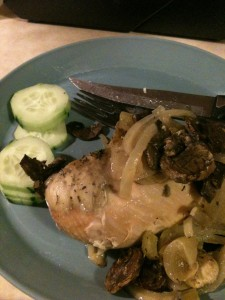 Chicken with Onions and Mushrooms
