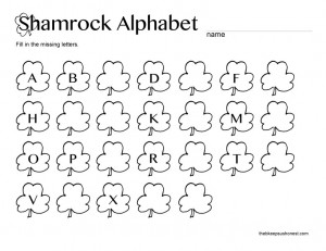 St. Patrick's Day Preschool Printable Worksheets