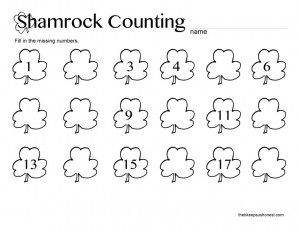 Shamrock-Counting printable