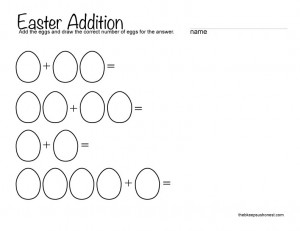 Easter Math Printable Worksheets