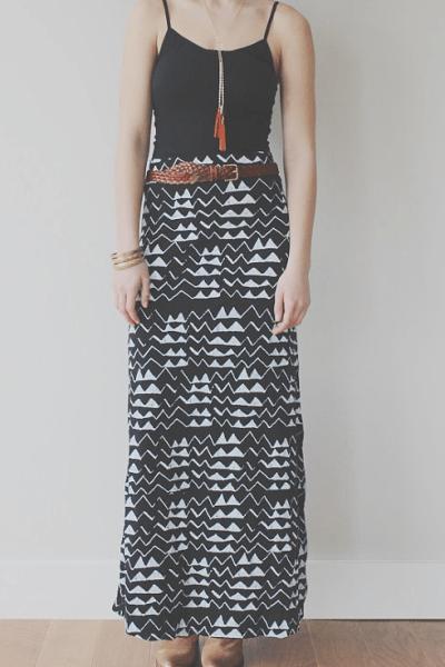 thief & bandit maxi skirt