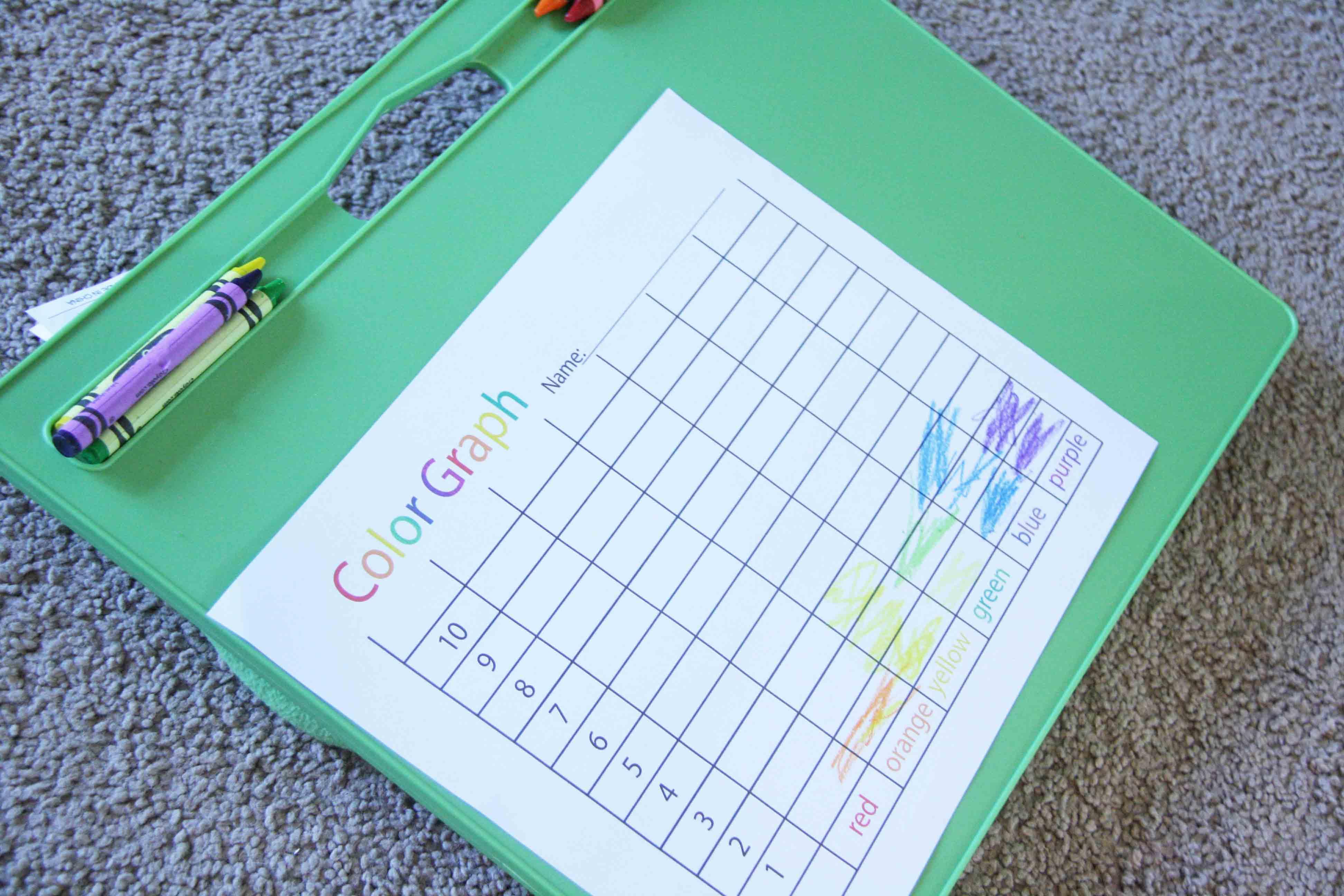 Preschool Color Graph Game The B Keeps Us Honest