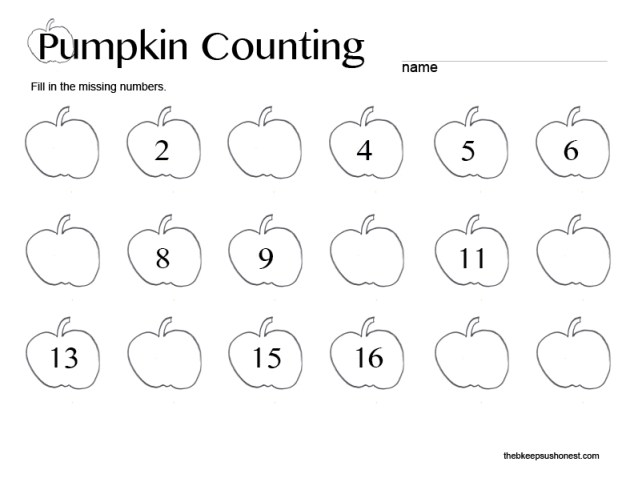 Pumpkin Counting Printable