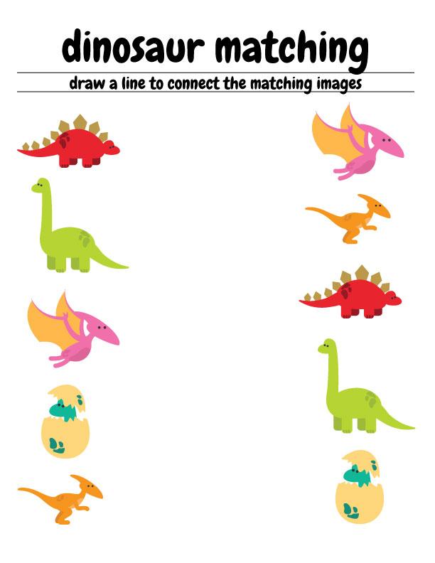 Free Dinosaur Preschool Worksheets – The B Keeps Us Honest