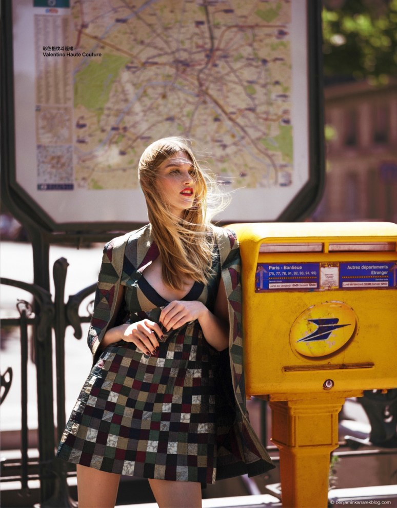 Irina Nikolaeva in Valentino Haute Couture © Benjamin Kanarek