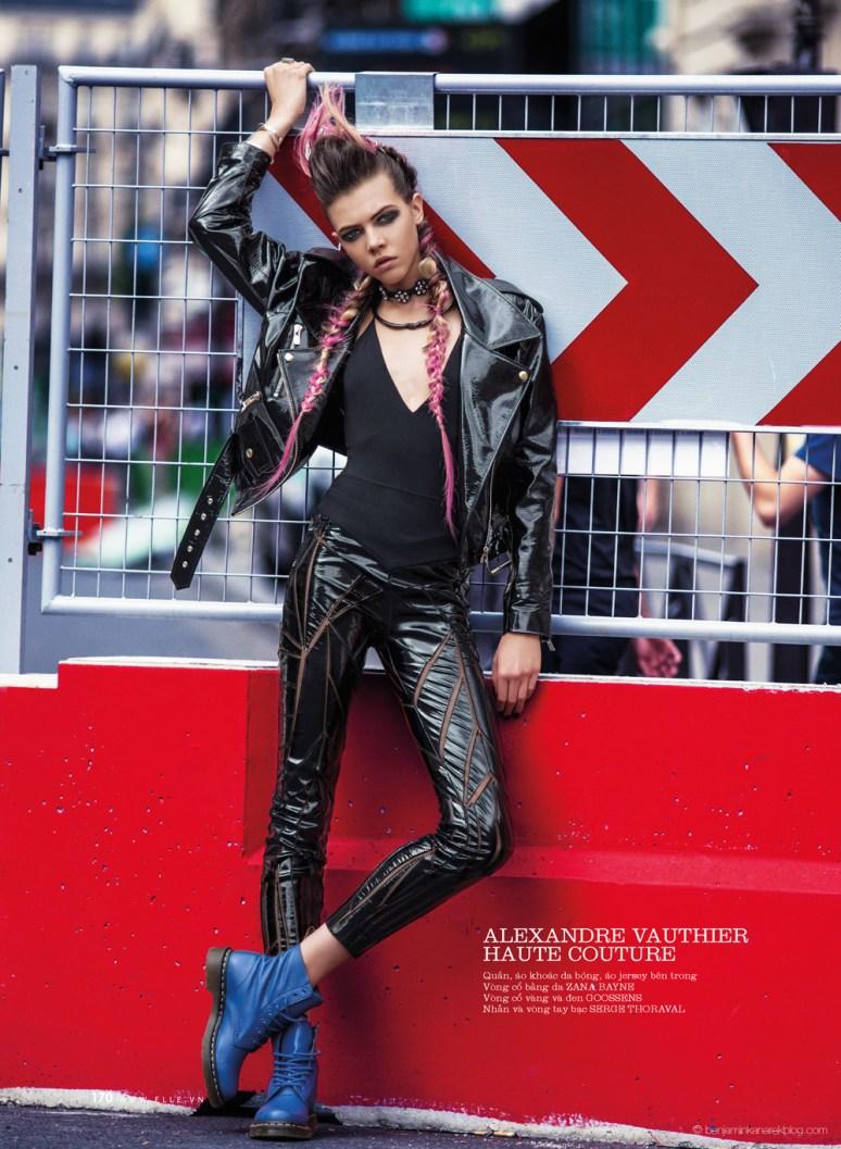 Léa Julian in Alexandre Vauthier Haute Couture @ Benjamin Kanarek
