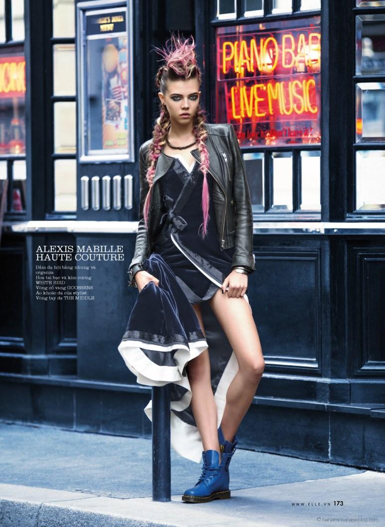 Léa Julian in Alexis Mabille Haute Couture @ Benjamin Kanarek