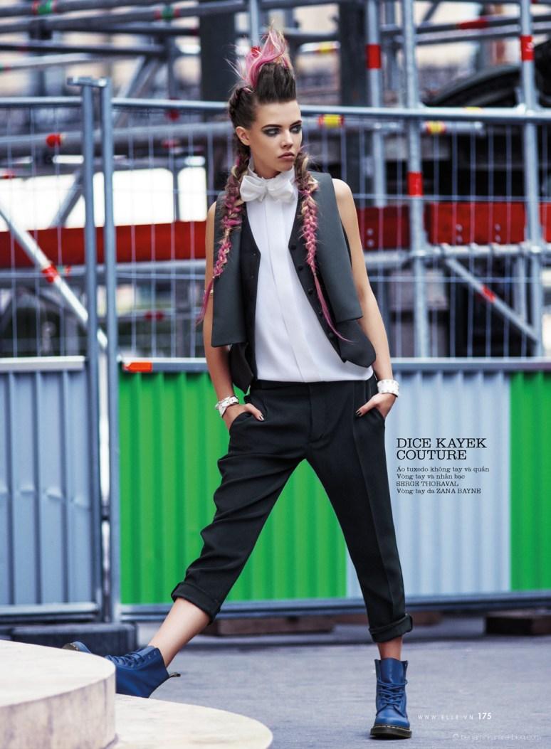 Léa Julian in Dice Kayek Haute Couture @ Benjamin Kanarek