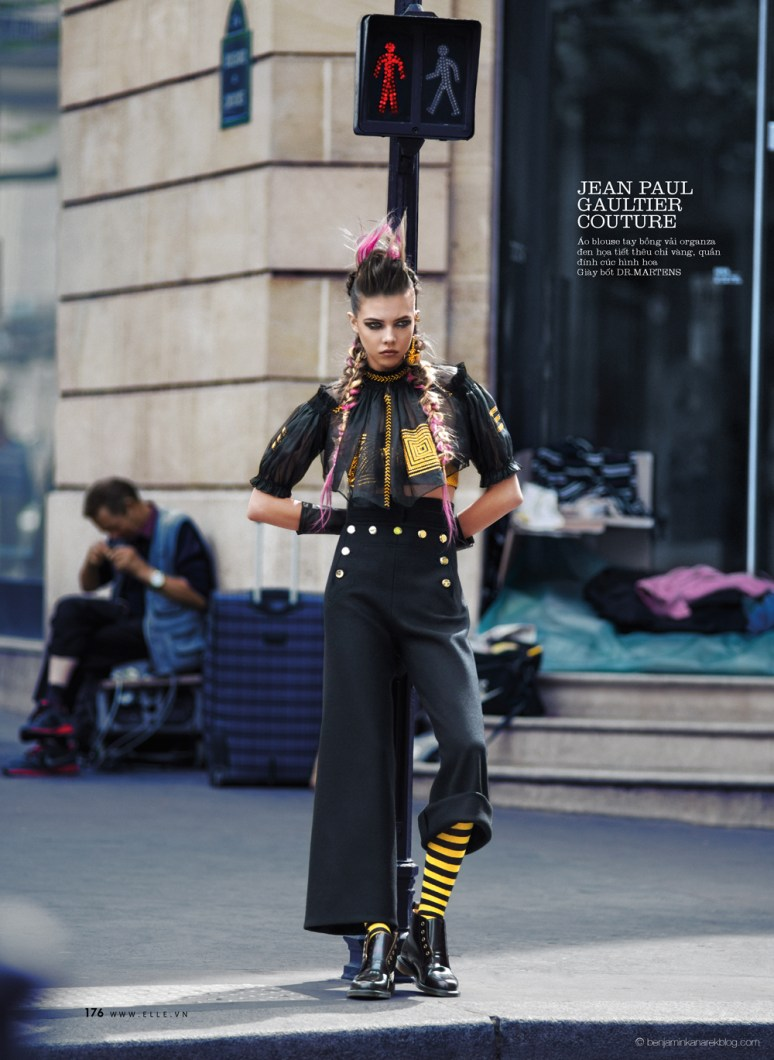Léa Julian in Jean Paul Gaultier Haute Couture @ Benjamin Kanarek