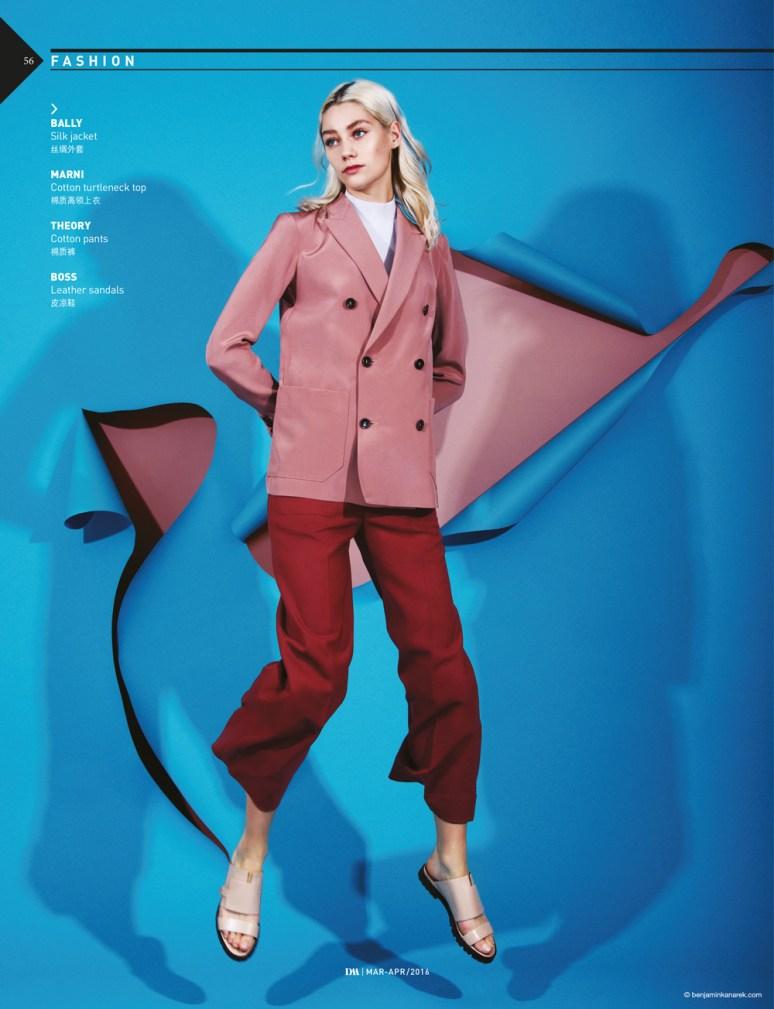 Lidia Judickaite wearing Bally, Marni, Theory and Boss © Benjamin Kanarek for DM
