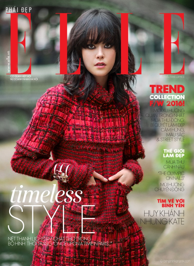 Mae Lapres cover girl of ELLE in Chanel RTW FW 2016-2017 © Benjamin Kanarek