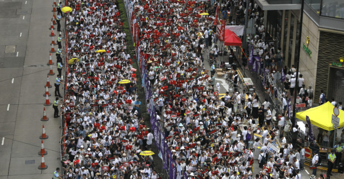 Over 1 million in Hong Kong protest communist China extradition law   TheBL.com