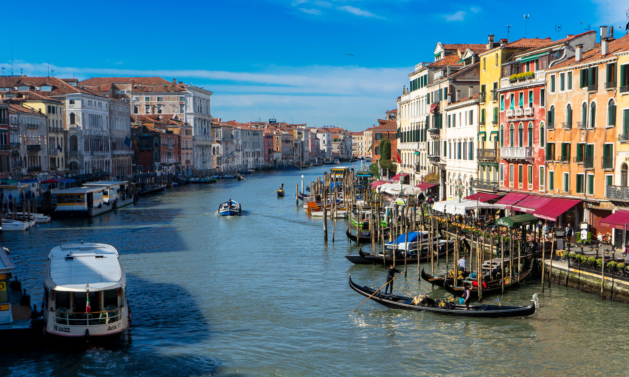 photo of the grand canal on a sunny day