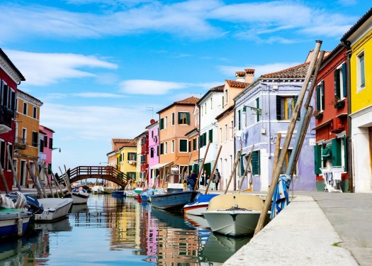 Photo of a canal in Burano