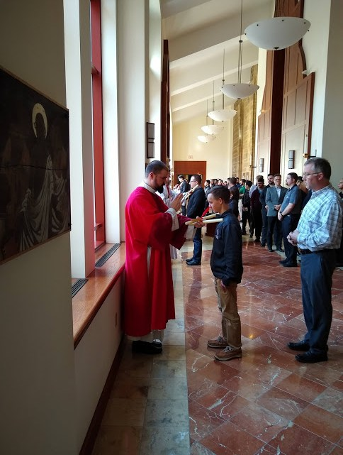 Blessing of Throats at the Seminary