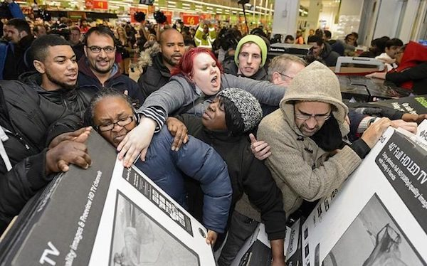 Black Friday Crowd Fight