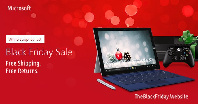 Black Friday Microsoft 2017 Deals