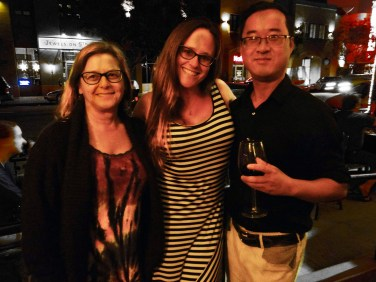 Becky, Breeann, And Binh from TAST 2.1 Reading his work | The Black Lion Journal | The Black Lion | Image ©2016 Christina Lydia