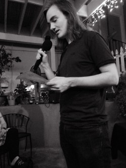 Nathan Hillstrom from TAST 2.1 Reading his work | The Black Lion Journal | The Black Lion | Image ©2016 Christina Lydia