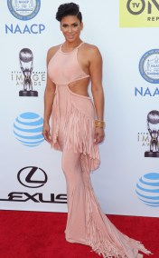LAURA GOVAN NAACP IMAGE AWARDS 2016 RED CARPET