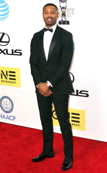 MICHAEL B JORDAN NAACP IMAGE AWARDS 2016 RED CARPET