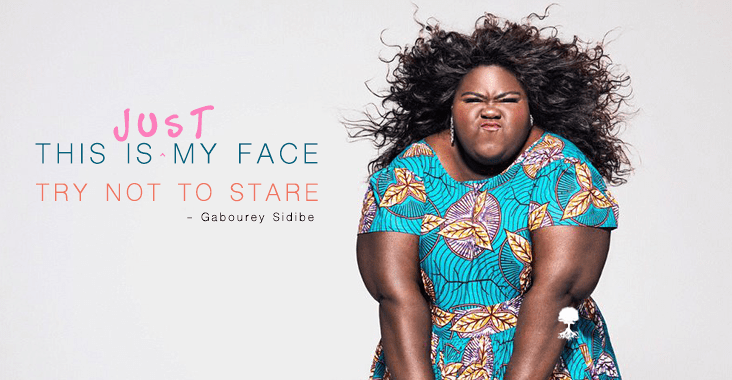Image result for gabourey sidibe this is just my face
