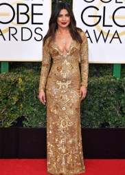 Mandatory Credit: Photo by REX/Shutterstock (7734773eg) Priyanka Chopra 74th Annual Golden Globe Awards, Arrivals, Los Angeles, USA - 08 Jan 2017