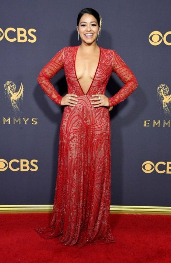 LOS ANGELES, CA - SEPTEMBER 17: Actor Gina Rodriguez attends the 69th Annual Primetime Emmy Awards at Microsoft Theater on September 17, 2017 in Los Angeles, California. (Photo by Steve Granitz/WireImage)