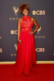 LOS ANGELES, CA - SEPTEMBER 17: Actress Tanika Ray attends the 69th Annual Primetime Emmy Awards at Microsoft Theater on September 17, 2017 in Los Angeles, California. (Photo by J. Merritt/Getty Images)