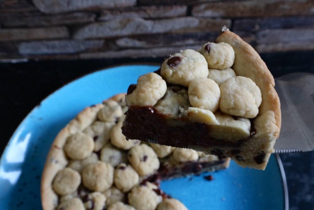 Cookie Cake mit Schokofüllung