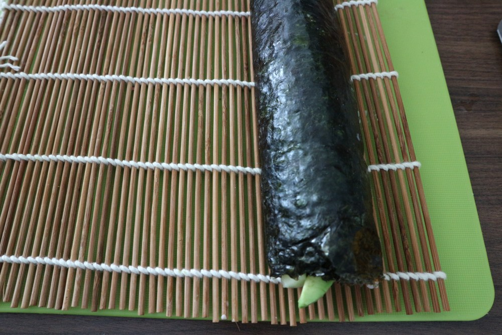 Fertige Sushi Rolle