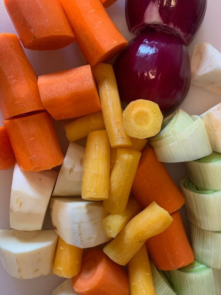 Hühnersuppe - Das Gemüse
