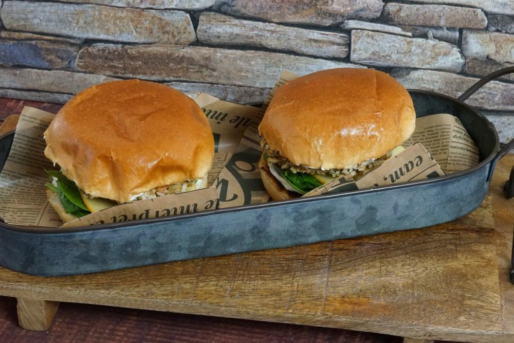 Veggie Burger mit Maronen
