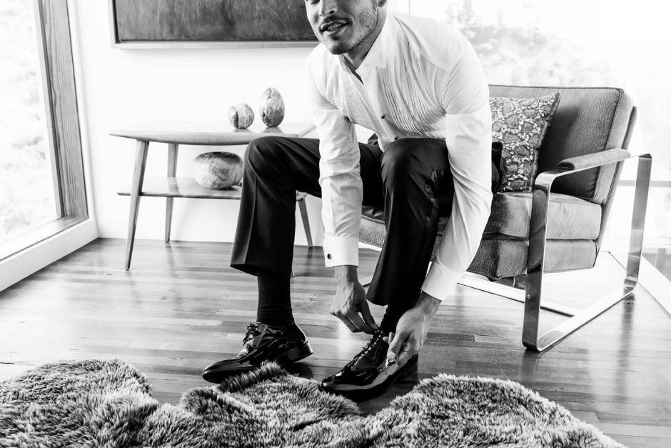 Tuxedo shoes.